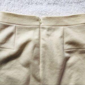 J. Crew Skirts - J Crew | Cream Colored Wool Pencil Skirt